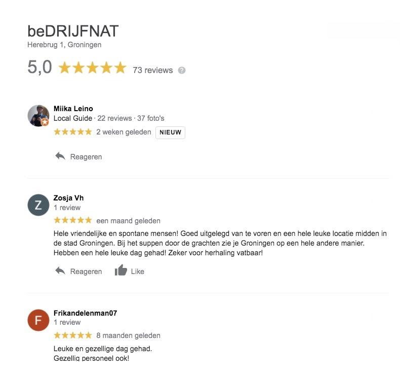Reviews Bedrijfnat.nl